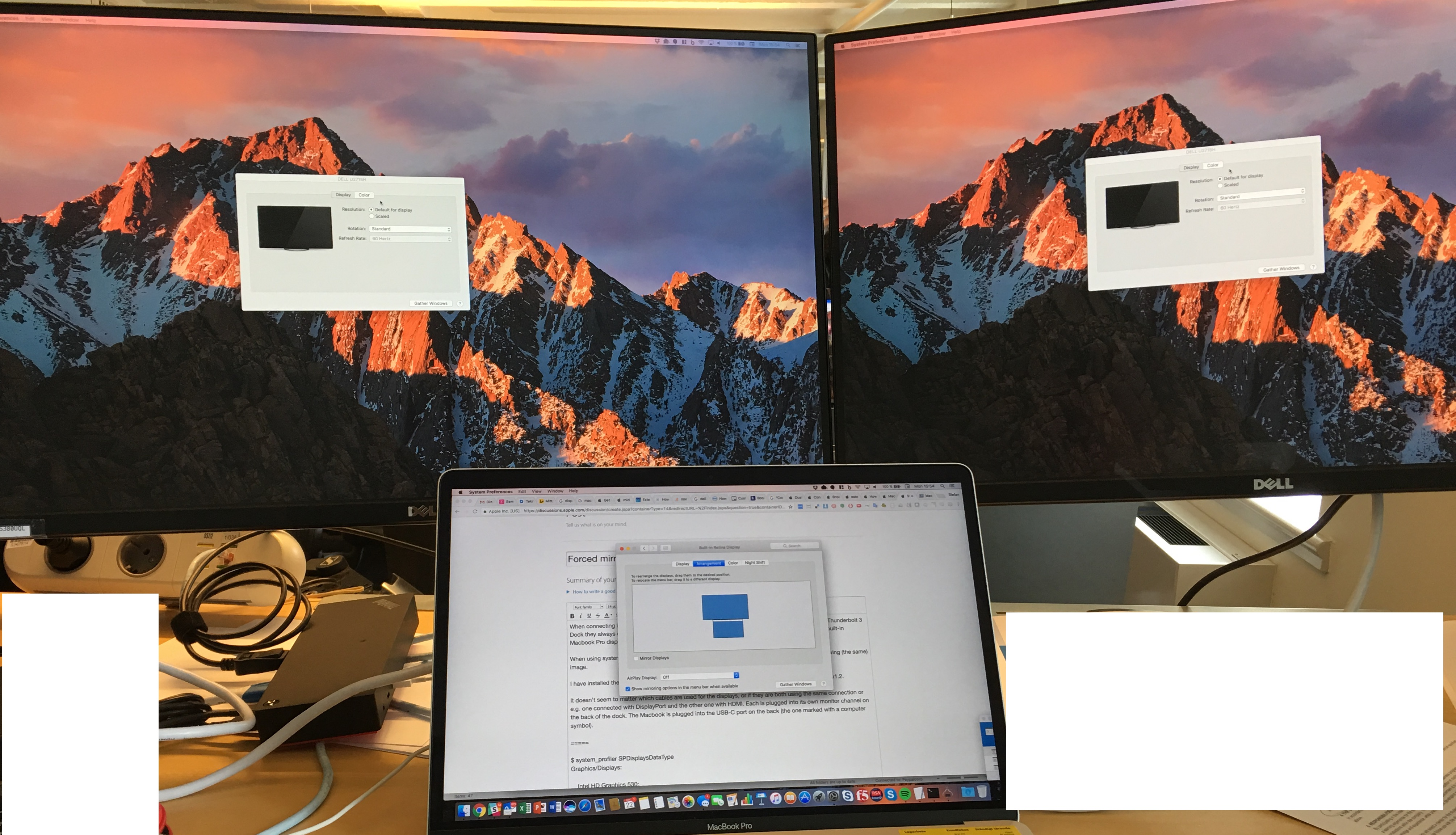 Forced mirroring on two external monitors… - Apple Community