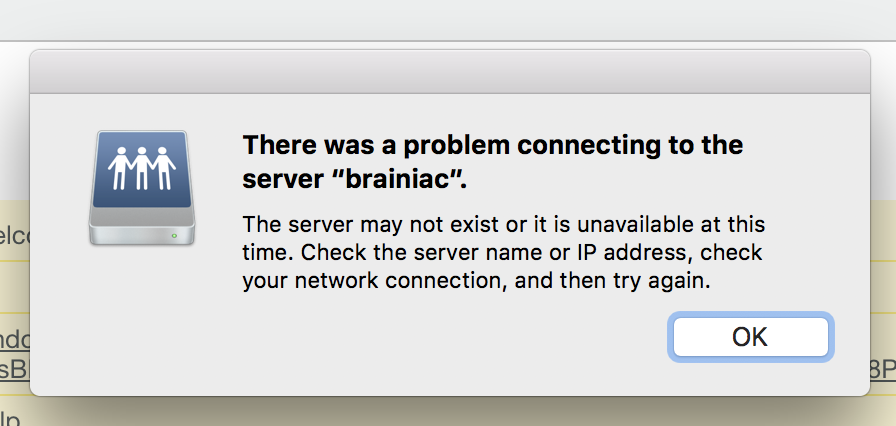 There was a problem connecting to the ser… - Apple Community