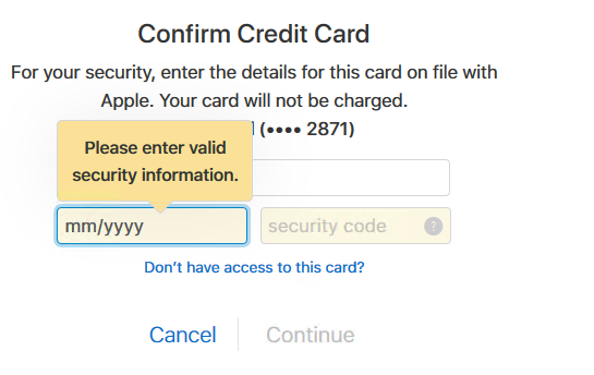 cannot reset my apple id password