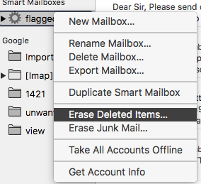 Problem with flagged mail - wrong count - Apple Community