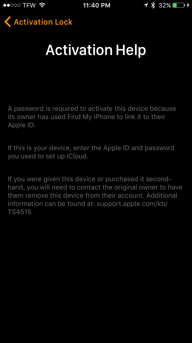 a752a85bca5a16 Question  Q  I bought an apple watch second hand. I do not know the owner  and now I m trying to pair and use. This is the message I m getting. Can  you help