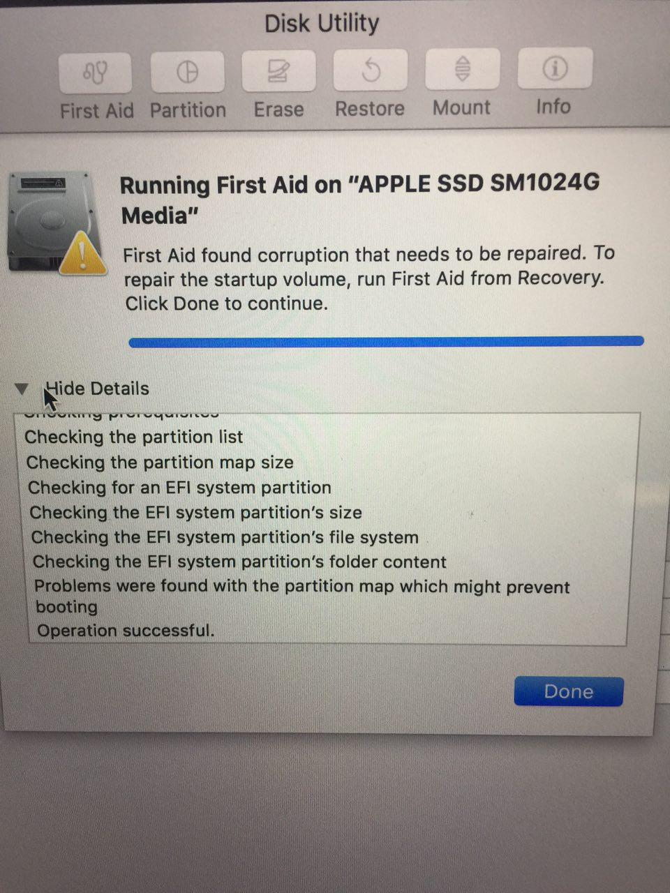 Apple macbook run first aid from recovery | how do i run