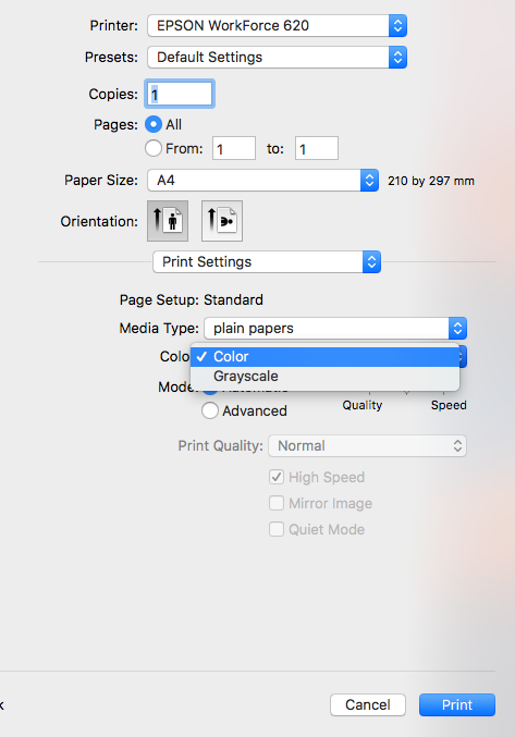 In Preview how print in black & white? - Apple Community