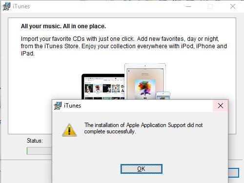 Can\u0027t install iTunes after Windows 10\u2026 - Apple Community
