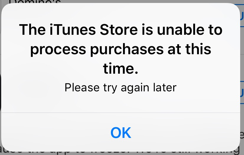 Itunes store time process to purchases at is this the unable