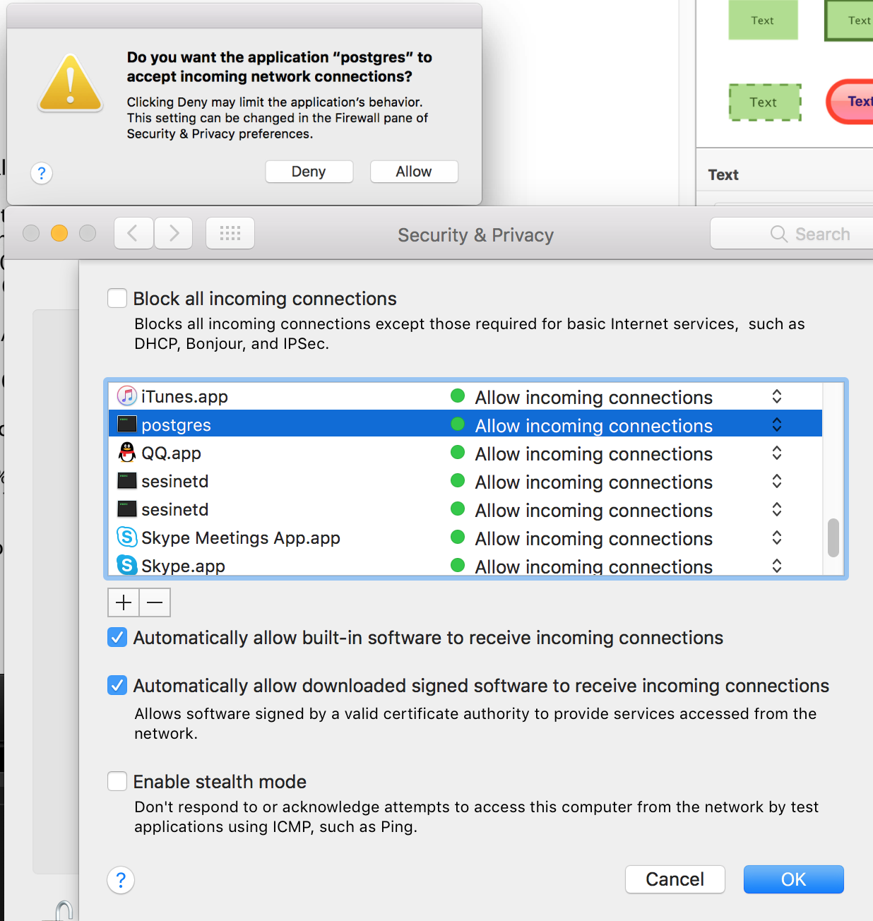 postgres pop up !!! - Apple Community