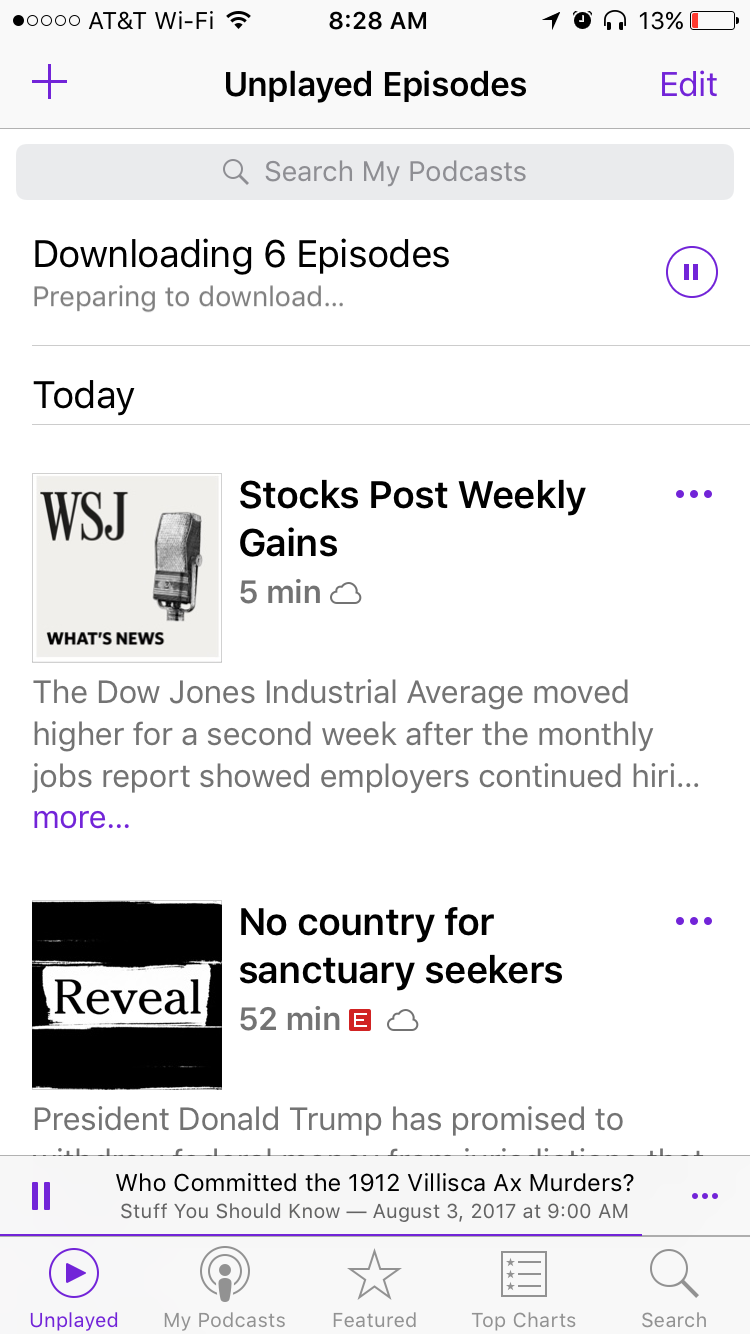 The podcast app doesn't work as well … - Apple Community