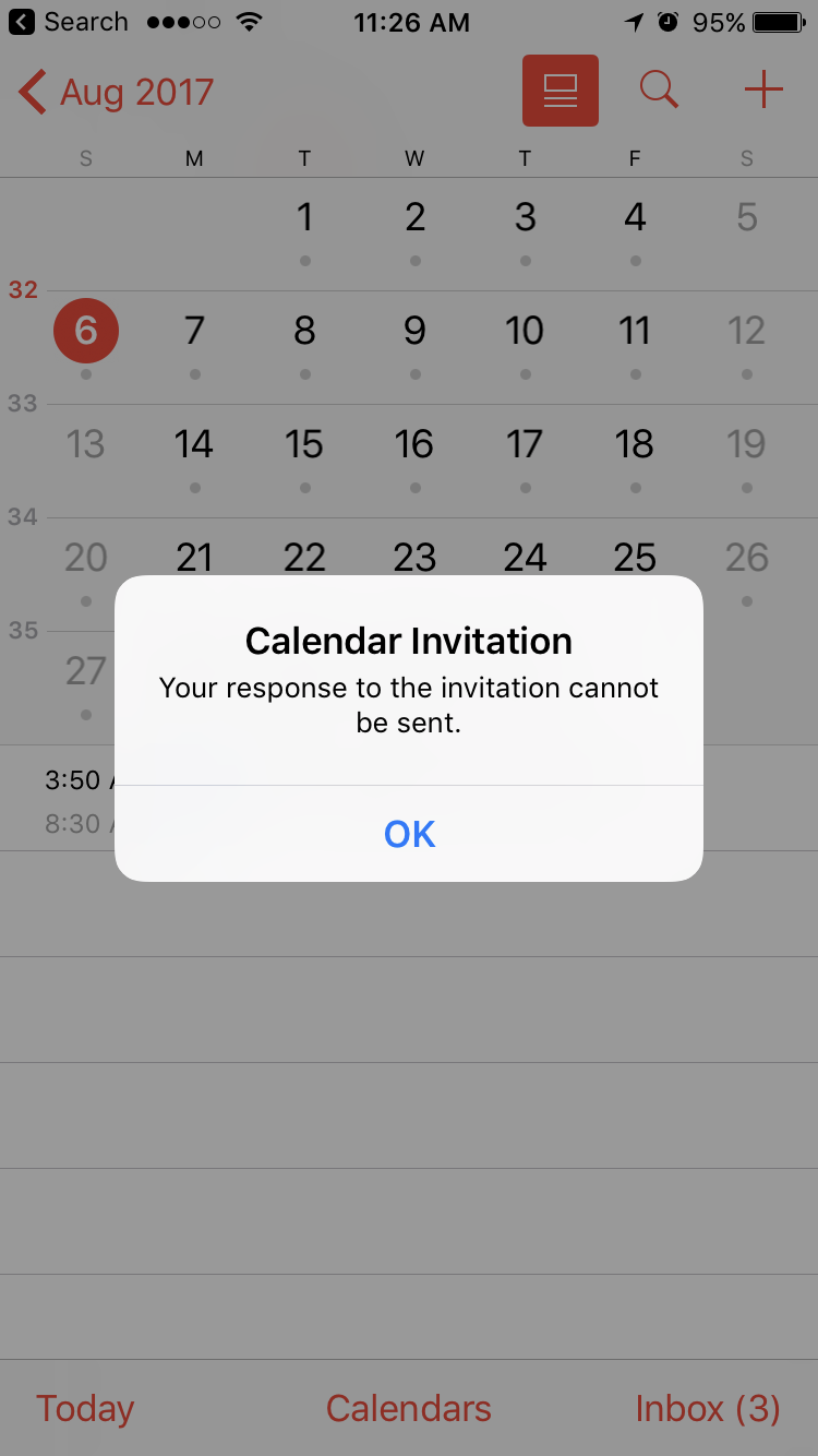Question Q Your Response To The Invitation Cannot Be Sent