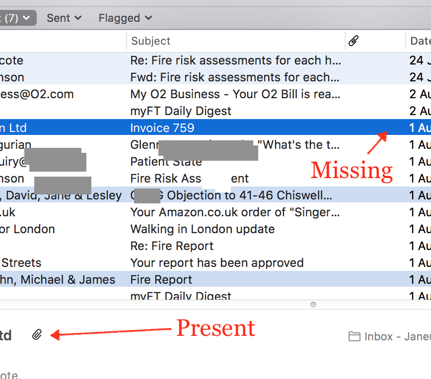 OSX Mail Inbox - attachments not showing … - Apple Community