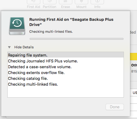disk utility first aid is stuck won't… - Apple Community