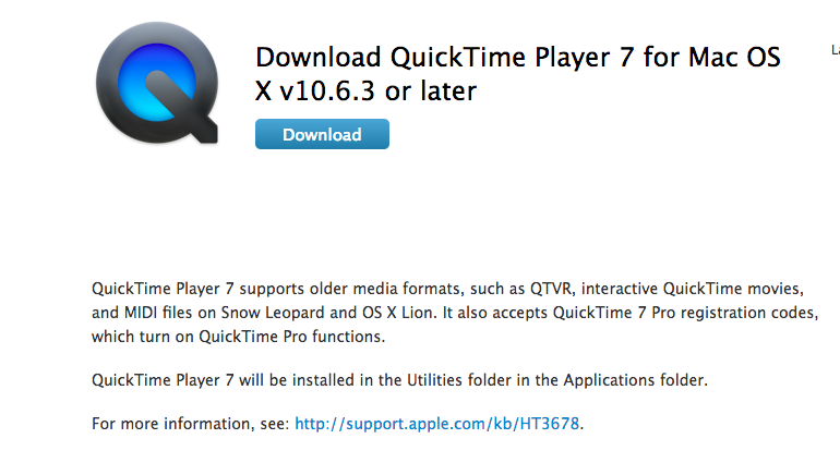 How do I download Quicktime version 10 to… - Apple Community