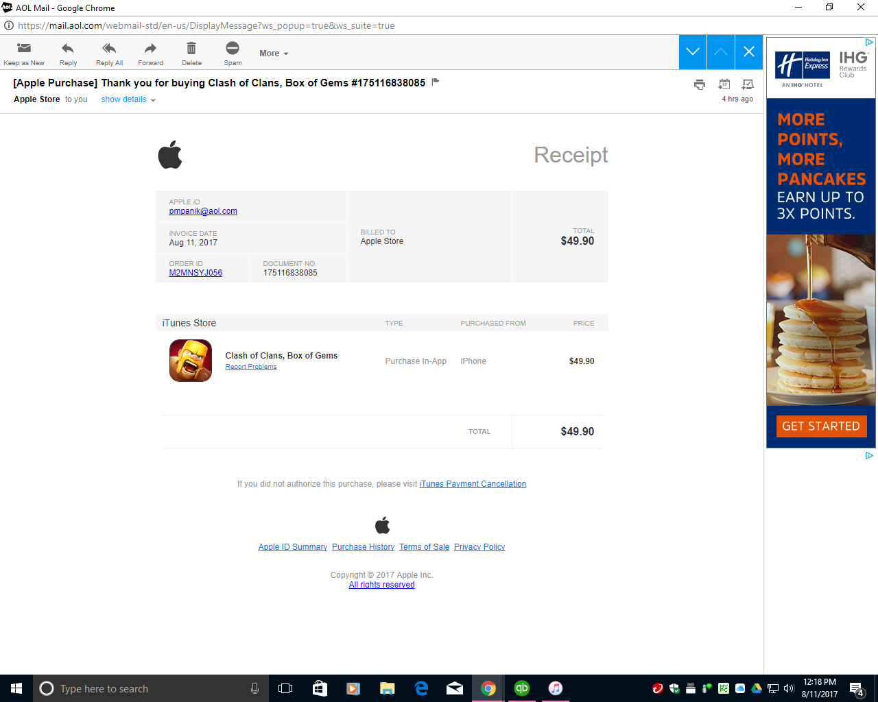 I think my account is trying to be hacked… - Apple Community