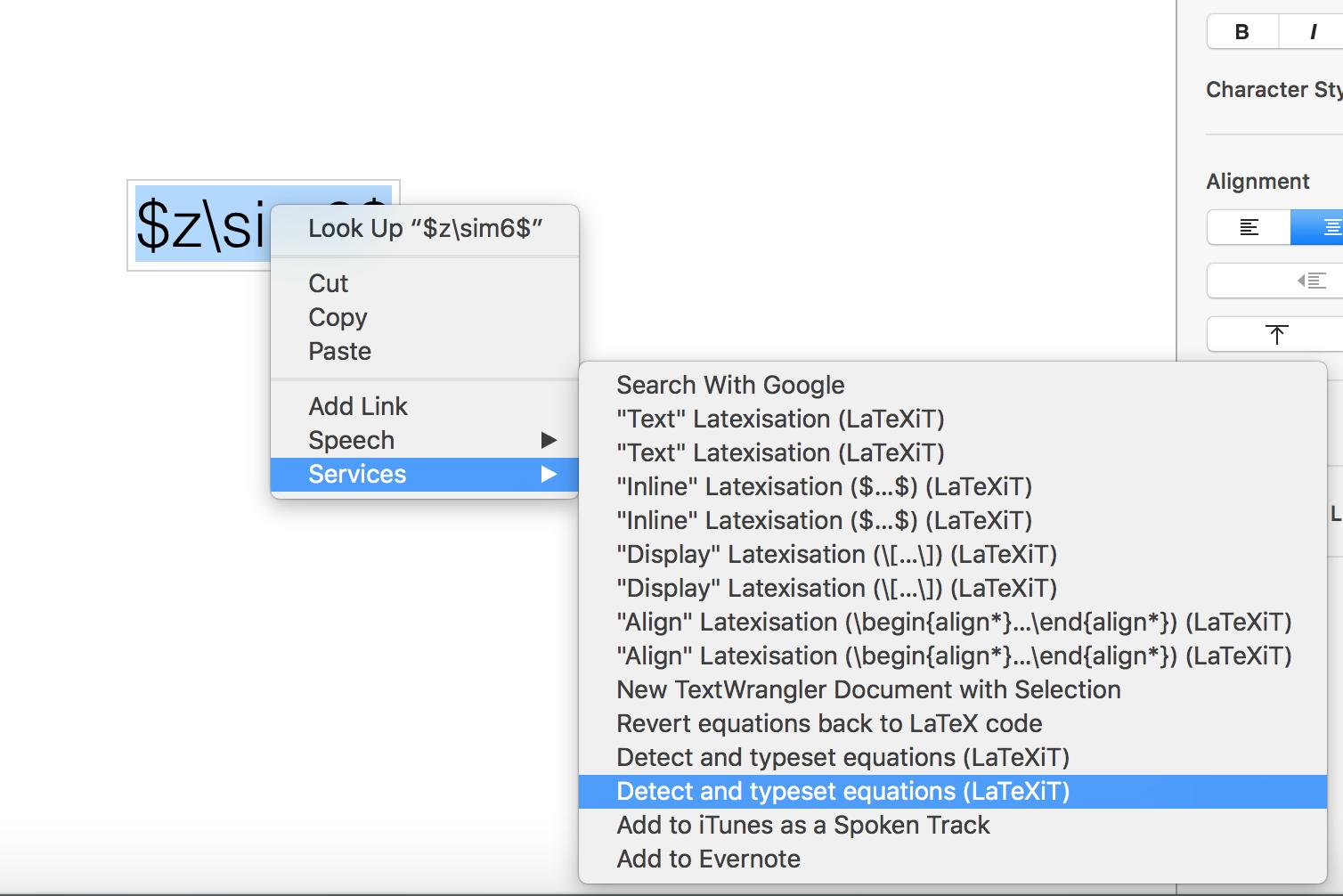 Latexit Service not working on Keynote - Apple Community