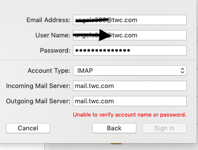 Mail account problem - Apple Community