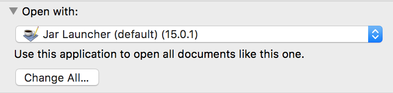 I can't open  jar files properly - Apple Community