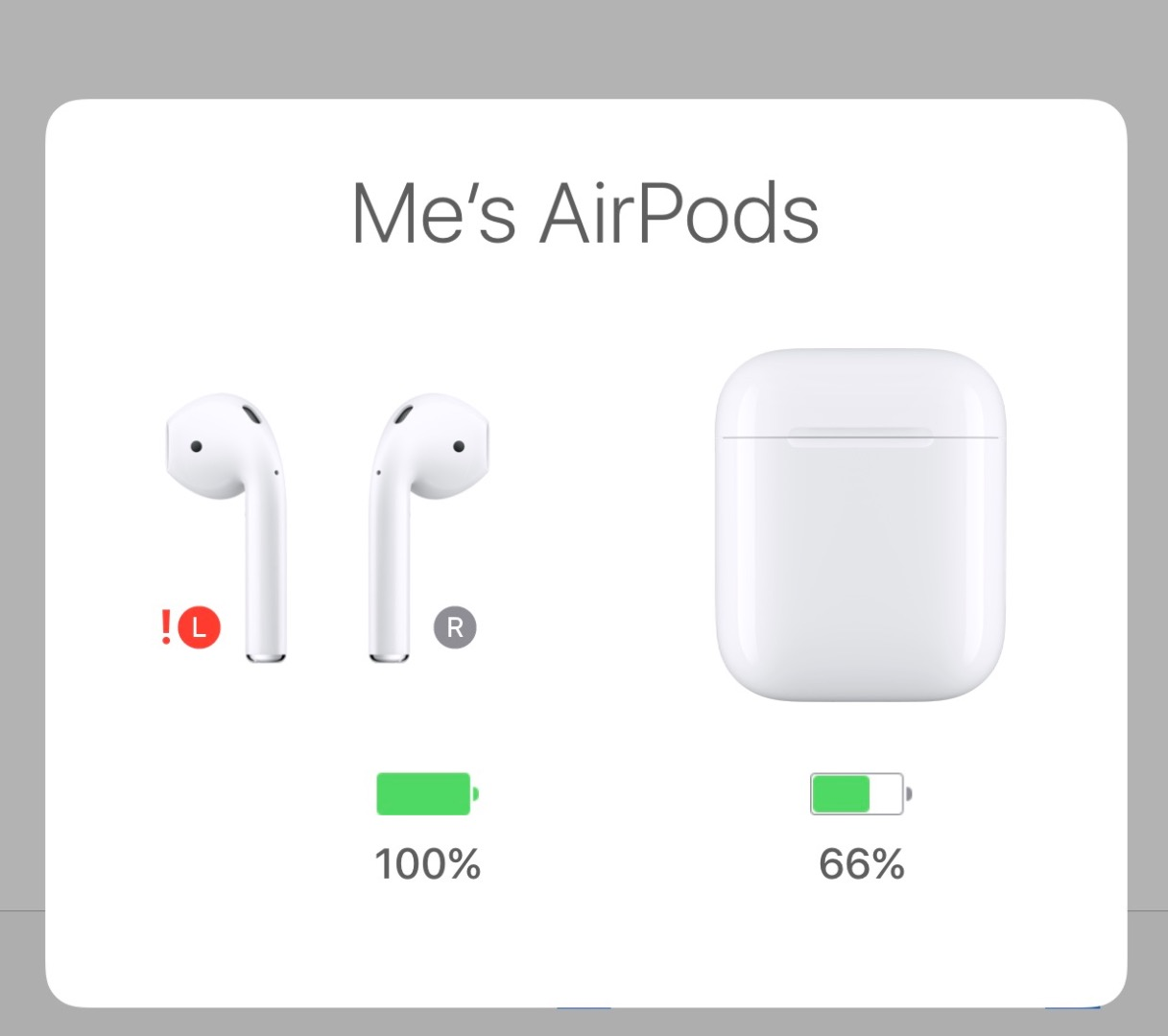 Red Exclamation Point On Airpods Apple Community