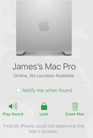 find my iphone online no location available