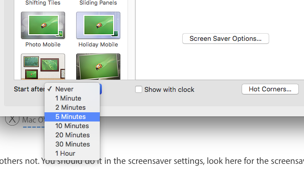 Can the screensaver transition speed be c… - Apple Community