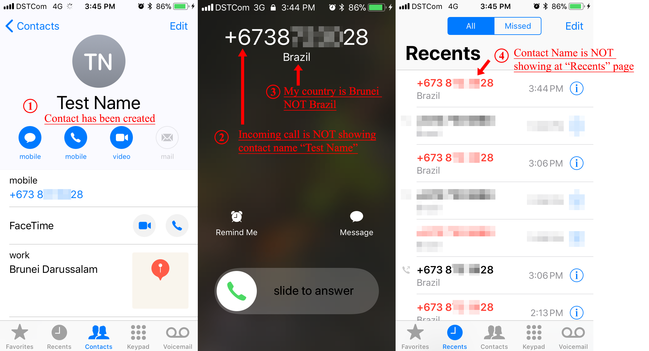 Incoming call is not showing contact name - Apple Community