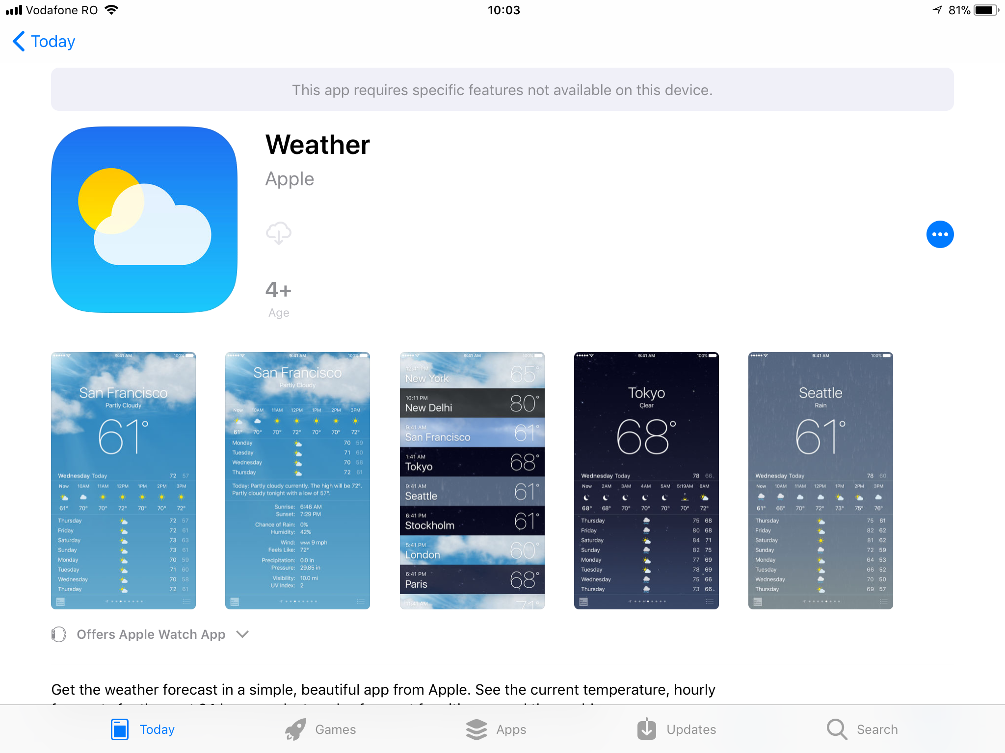 Weather app disappeared - Apple Community