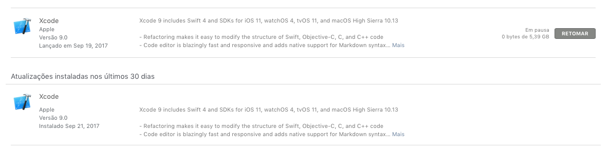 App Store downloaded XCode 9 but it didn&… - Apple Community