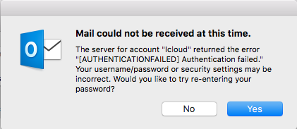 iCloud and Gmail for Outlook not working - Apple Community