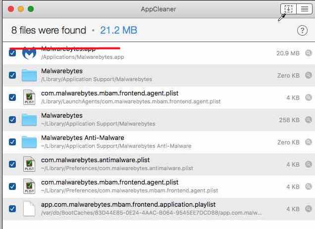 delete malwarebytes from menu bar