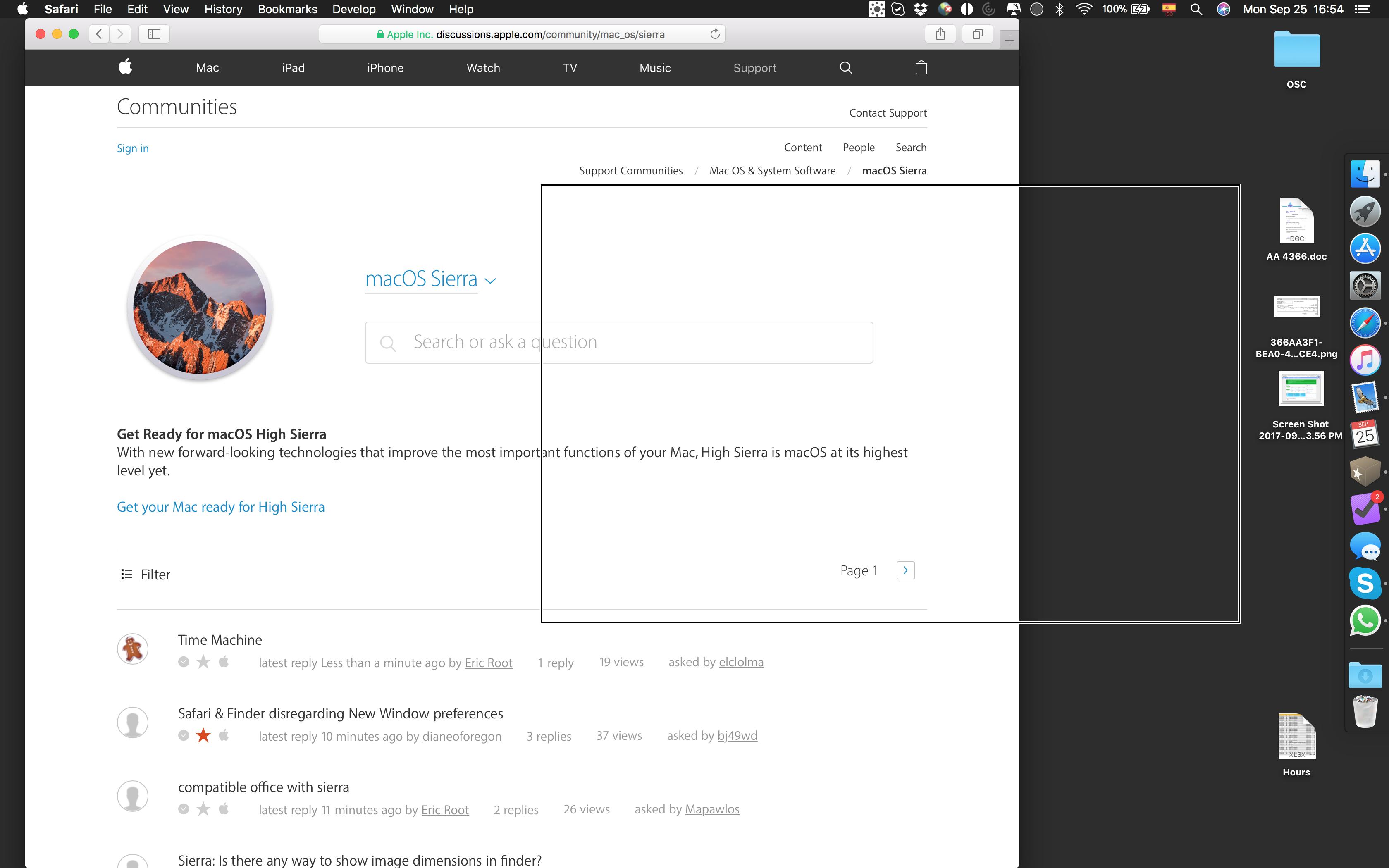 Hi Everybody! I've updated to macOS … - Apple Community