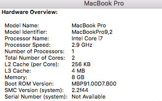 macbook serial number not available