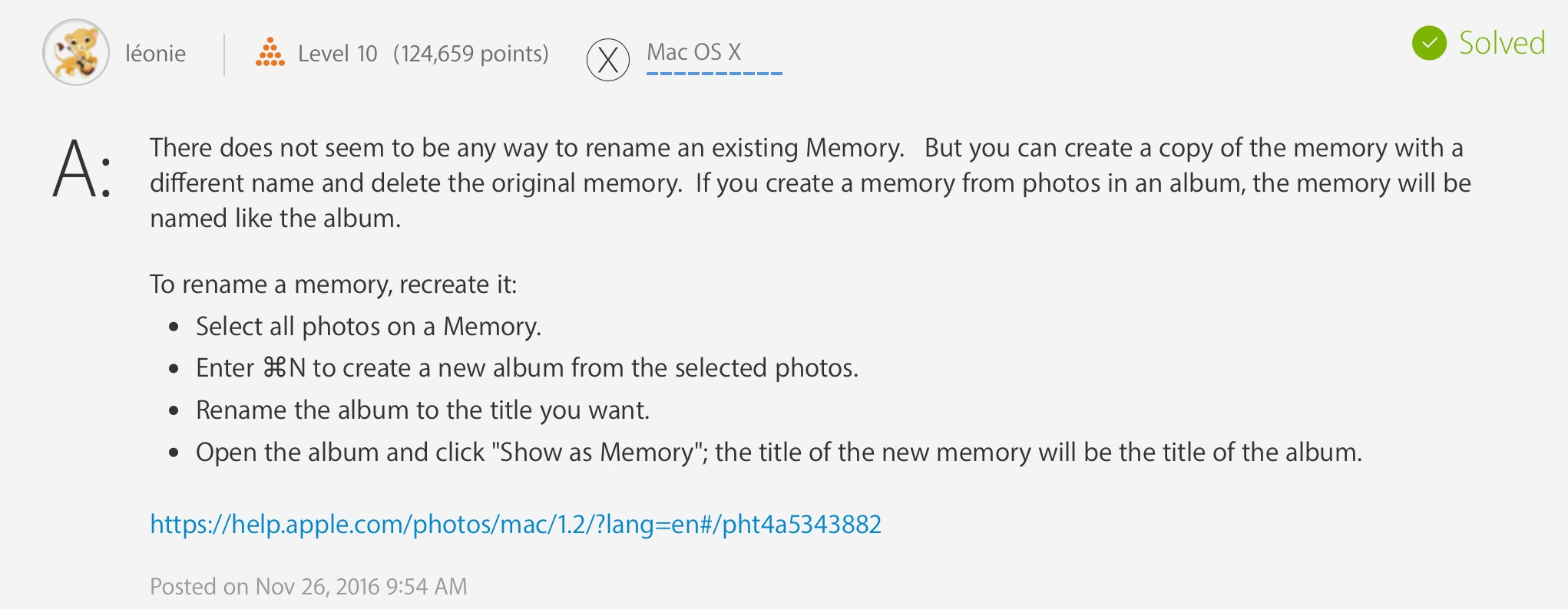 change album name in mac