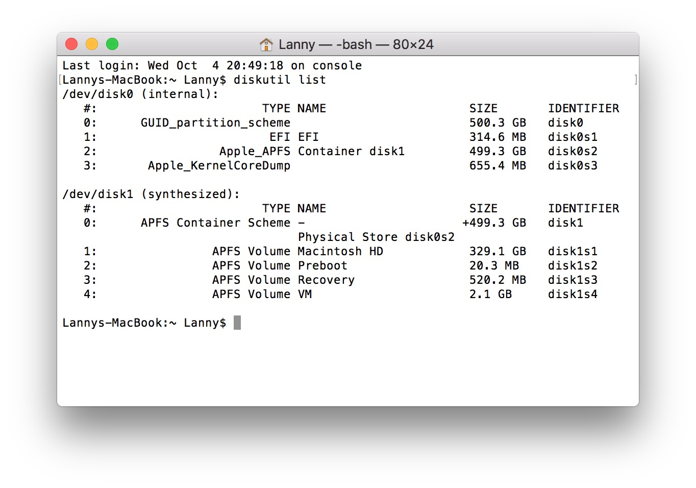 Should there be a recovery partition in H… - Apple Community