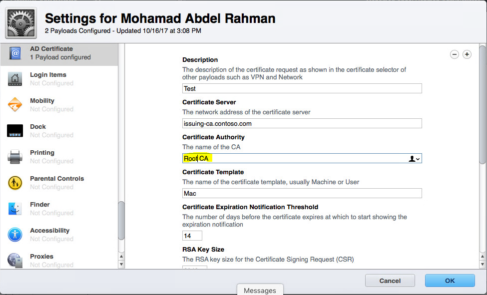 Profile Manager Ad Certificate Error Apple Community