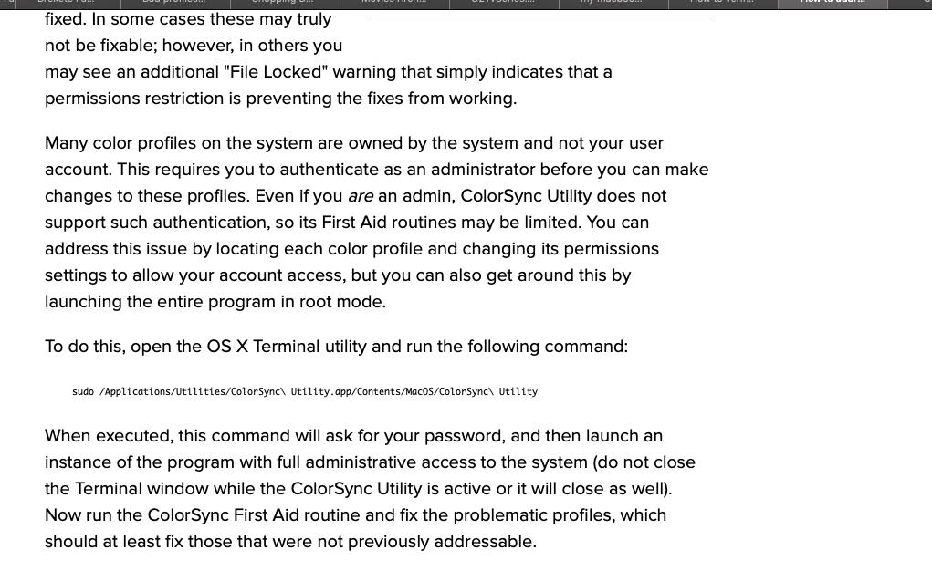 Bad profiles I can't fix - Apple Community