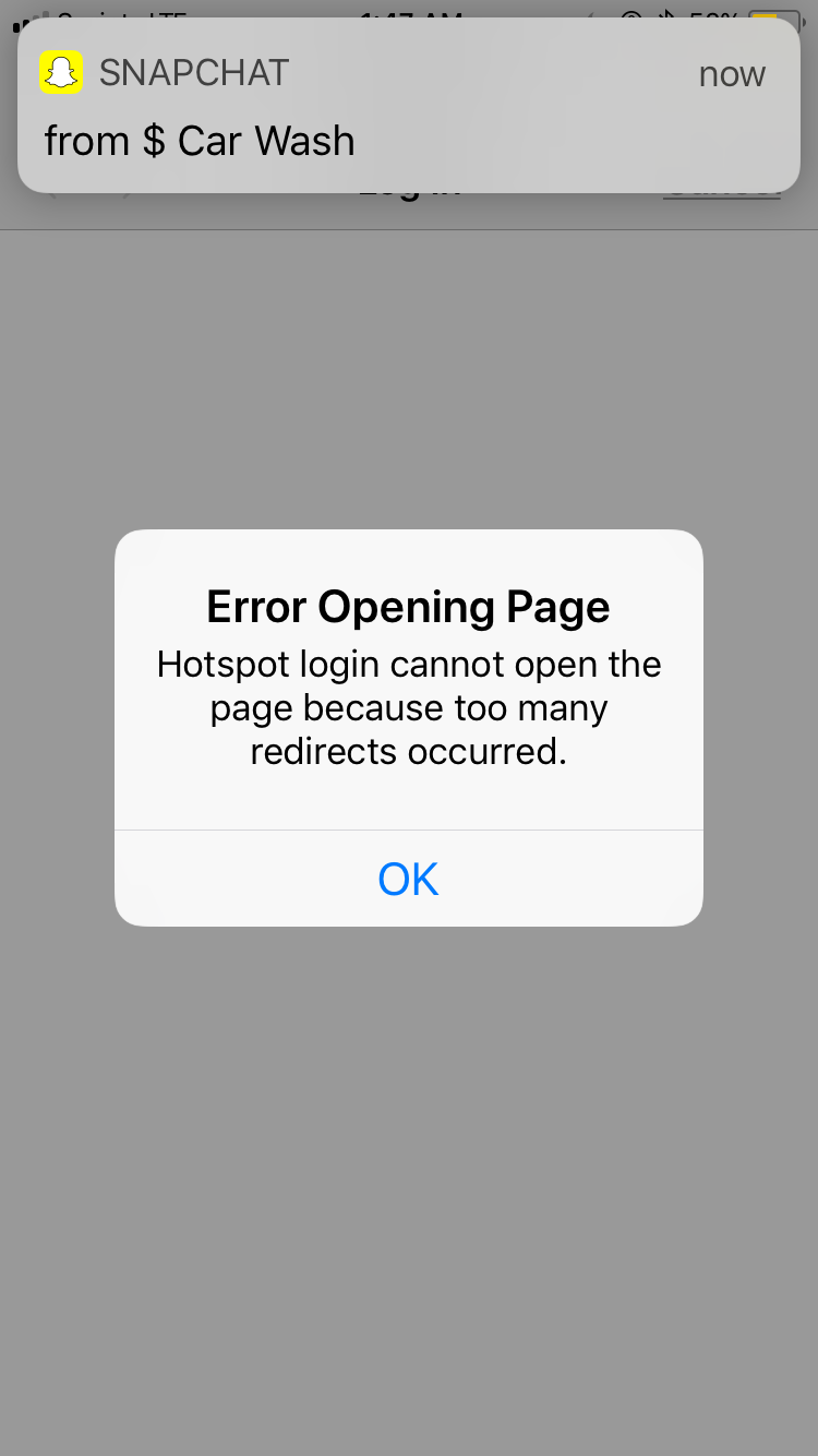 hotspot login cannot open the page becaus… - Apple Community