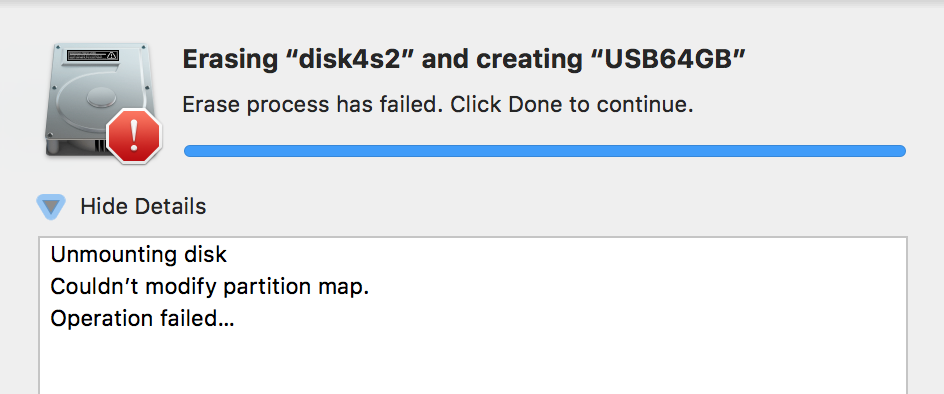 Disk Utility cannot erase USB Drive - Apple Community