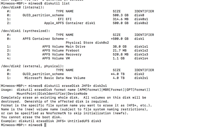 WD My Passport Format Problem (High Sierr… - Apple Community