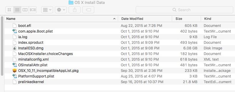 File installESD dmg On My Mac SSD with Hi… - Apple Community