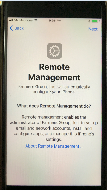 Iphone 6 required Remote management when … - Apple Community
