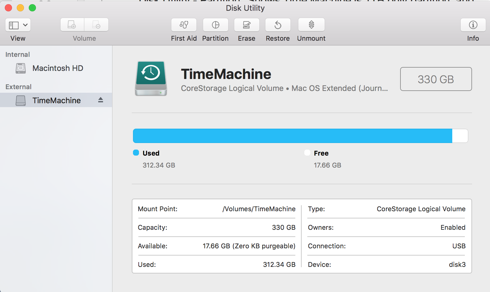 Removed Partition, Lost Capacity - Apple Community