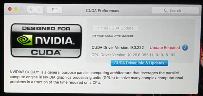 CUDA is not working with High Sierra on 2… - Apple Community