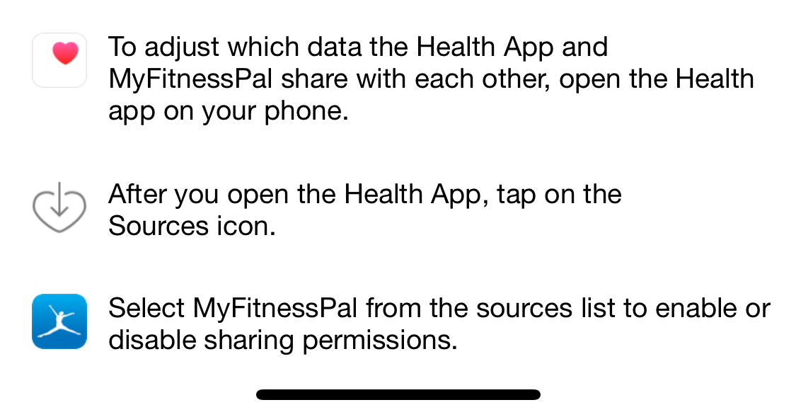 Syncing exercise with myfitnesspal - Apple Community