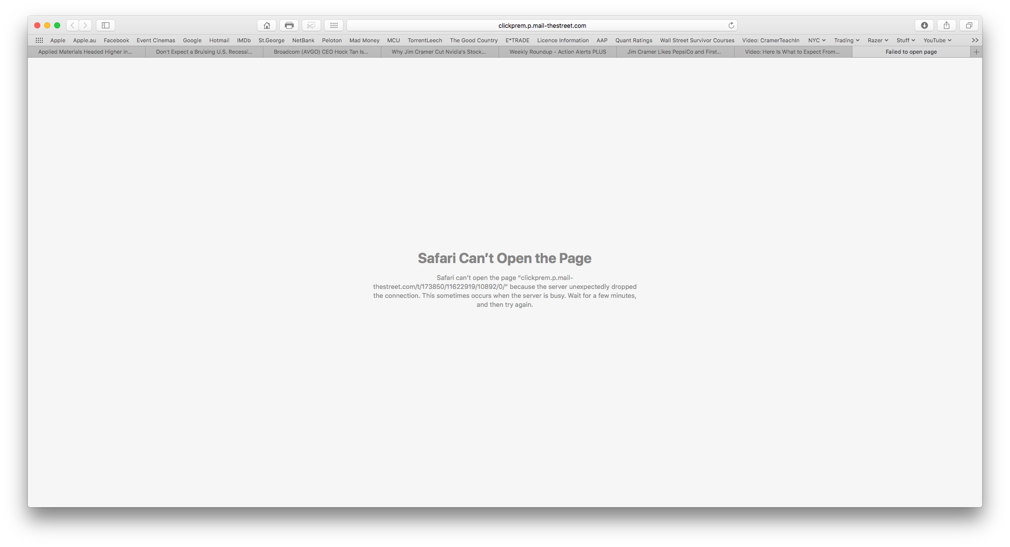 Safari page opening error from specific e… - Apple Community