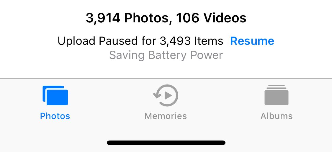 """How do I resume uploading my photos? """"Upl… - Apple Community"""