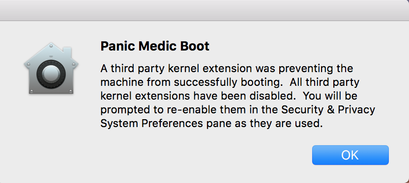 Panic Medic boost disables third party ke… - Apple Community