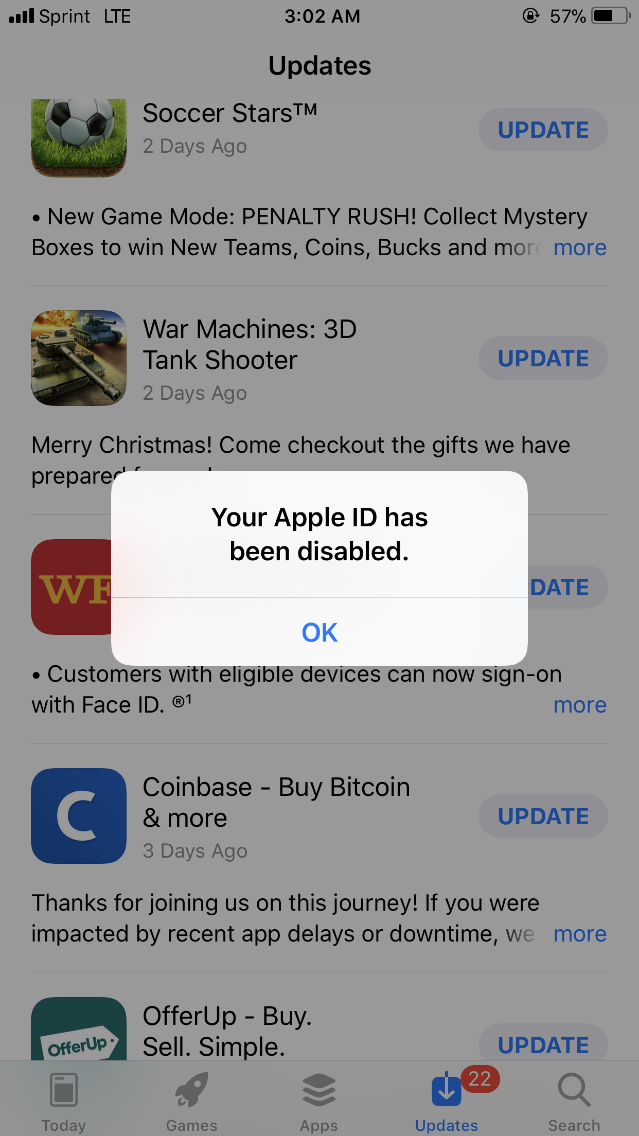 why when i try to update my apps my phone… - Apple Community