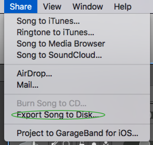 what is the best way to save a Garageband… - Apple Community