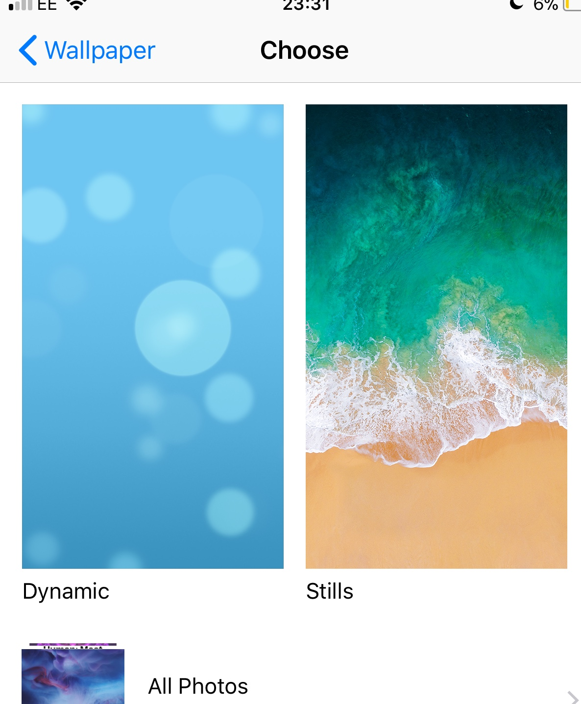 Don T Have Live Wallpapers On My Iphone 6 Apple Community