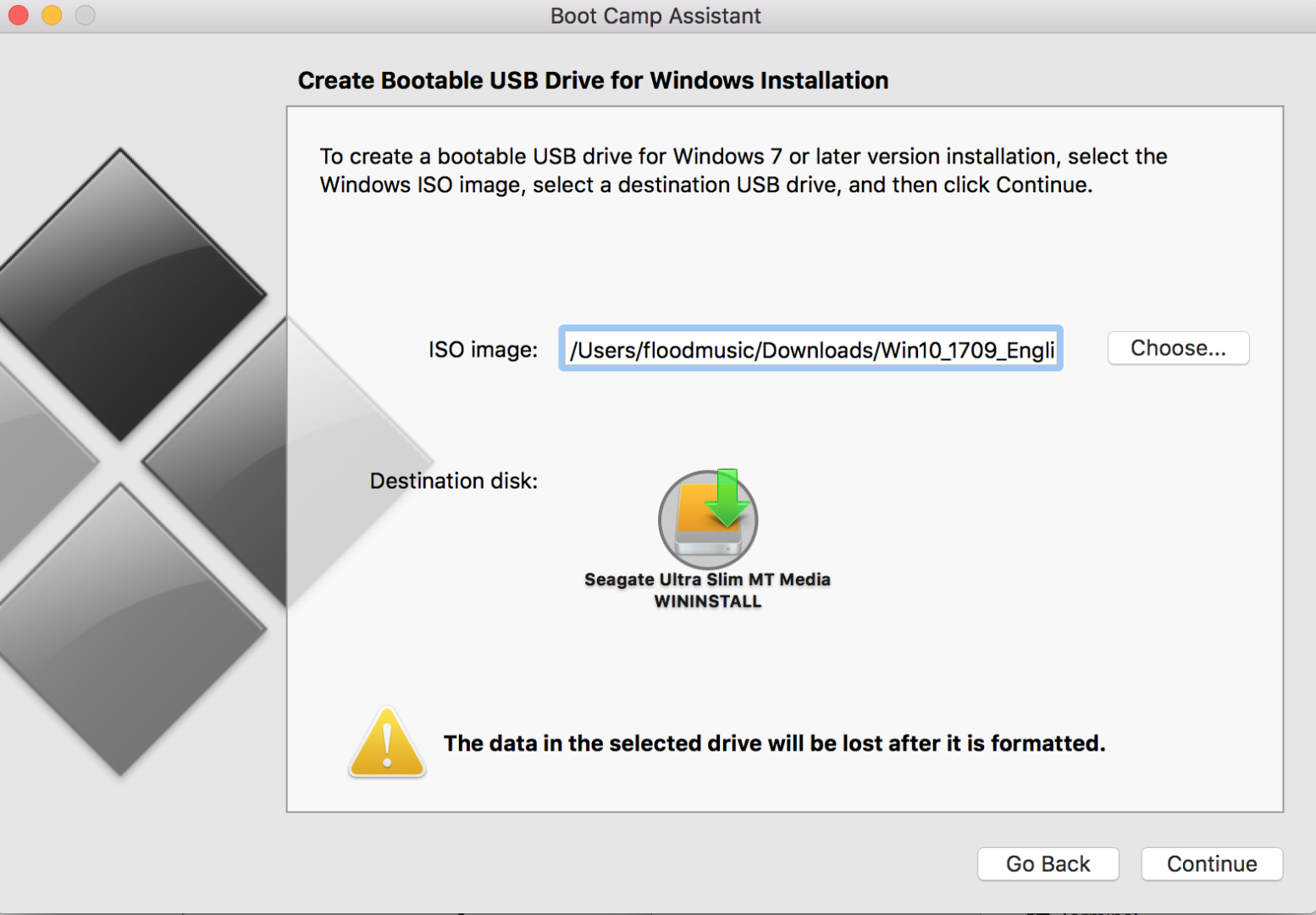 Disk could not be partitioned