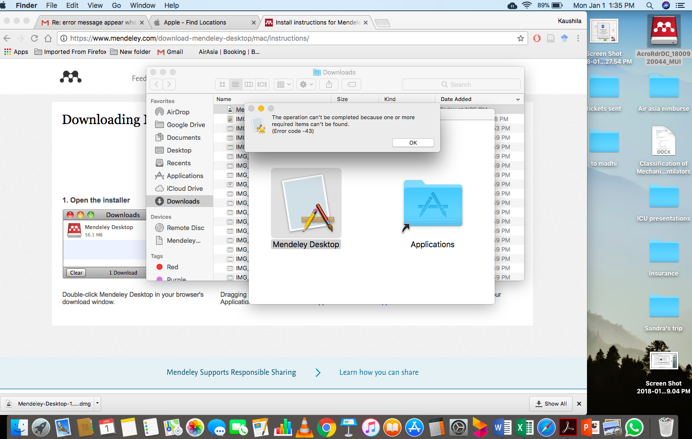 Mendeley cannot install in Mac OS High Si… - Apple Community