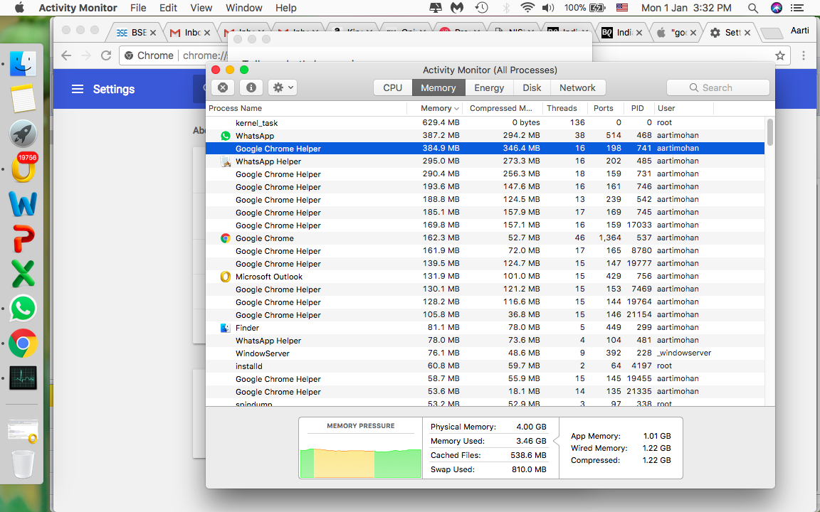 Google Chrome Helper is using up too much… - Apple Community